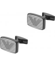 Emporio Armani EGS2179060 firma Mens due gemelli in acciaio tono