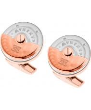 Thomas Earnshaw ES-003-C3 rotore Mens due toni rosa gemelli placcati oro