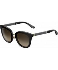 6bf2e72b35c9d Jimmy Choo Signore occhiali da sole scintillanti nero J6 FA3 Fabry-s