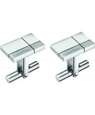 Calvin Klein KJ3PMC090100 Mens costruiti gemelli in acciaio tono argento