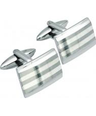 Unique QC-58 Mens gemelli in argento sterling